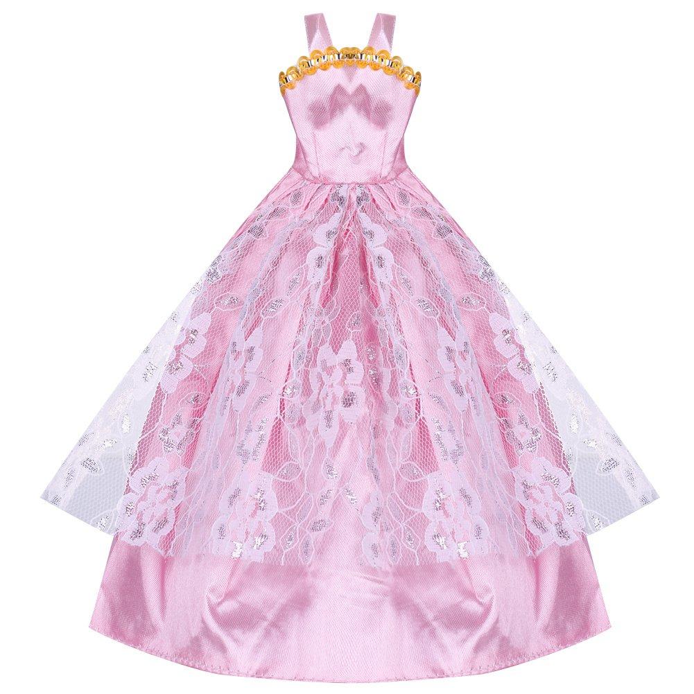 5 x Nuevos Vestidos + 10 pares Zapatos para Barbie Muñecas Ropa Buena Venta: Amazon.es: Juguetes y juegos