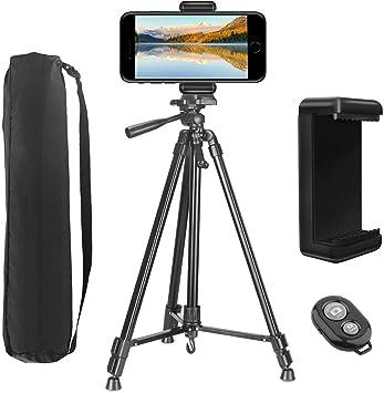 """46/"""" Phone /& fotocamera treppiede con Telefono Mount /& borsa da trasporto in alluminio leggero"""