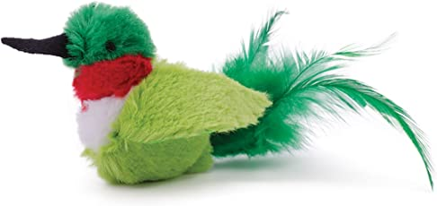 OurPets Play-N-Squeak Real Birds Buzz Off Interactive Cat Toy