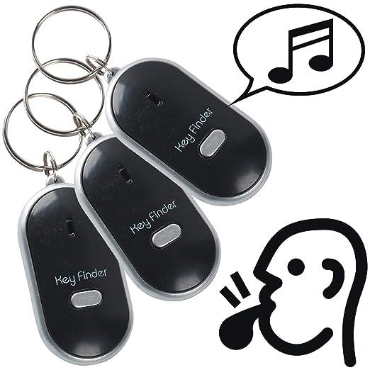 Keyfinder 3 Pack Viajes Viaje Llavero Silbato de pilas incluidas ...