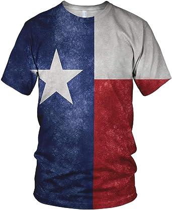 Estampado Entero Texas Bandera Hombre Moda Camiseta - sintético, Multicolor, 100% poliéster 100% poliéster, Hombre, Chica, Multicolor: Amazon.es: Ropa y accesorios