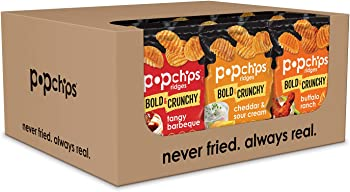 24-Count Popchips Ridged Potato Chips Variety Pack
