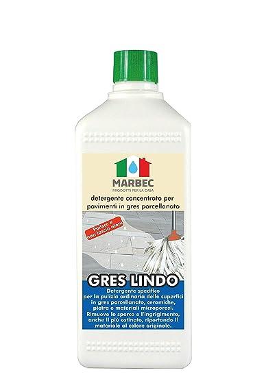 Marbec Gres Lindo 1lt Detergente Concentrato Specifico Per La Pulizia Ordinaria Dei Pavimenti In Gres Porcellanato