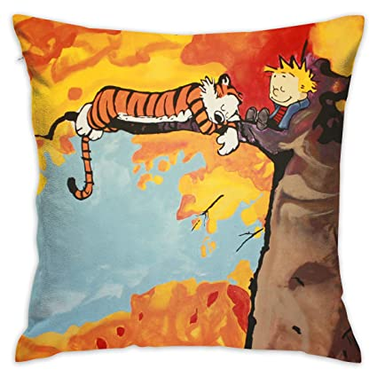 PSnsnX Calvin and Hobbes Pillow Covers Home Decor Throw Pillow Covers  Cushion Cover