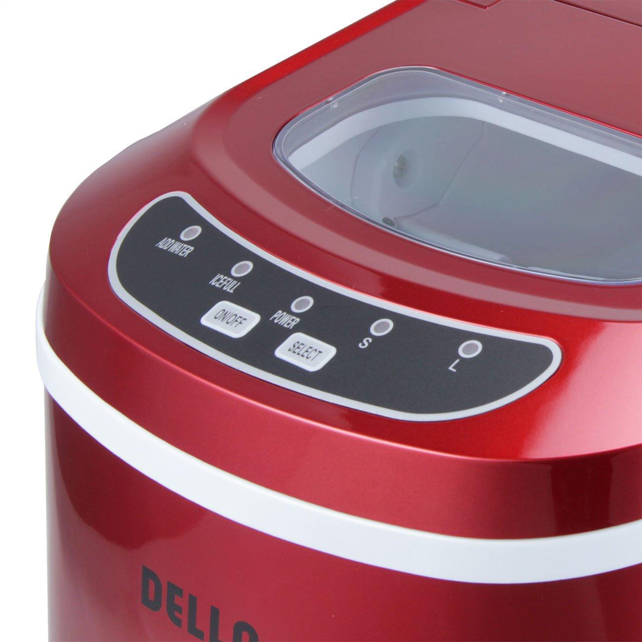 Della Portable Electric Ice Maker Machine Producing 26 Lbs. Of Ice Per Day- Red by DELLA (Image #5)