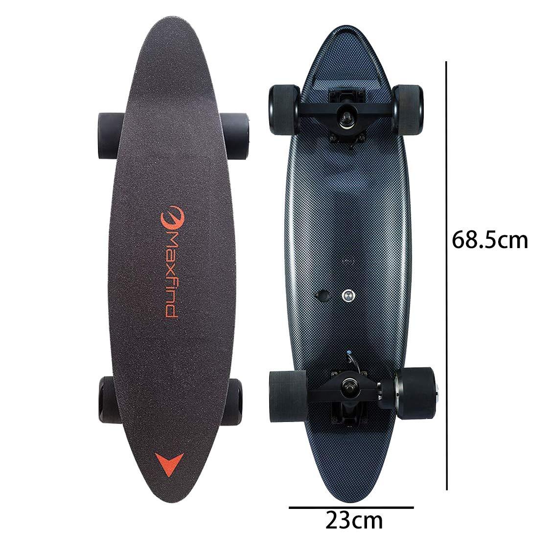Maxfind 27'' 14 mph 500 w Single Motor Electric Skateboard with Wireless Remote Control (Black) (Black)