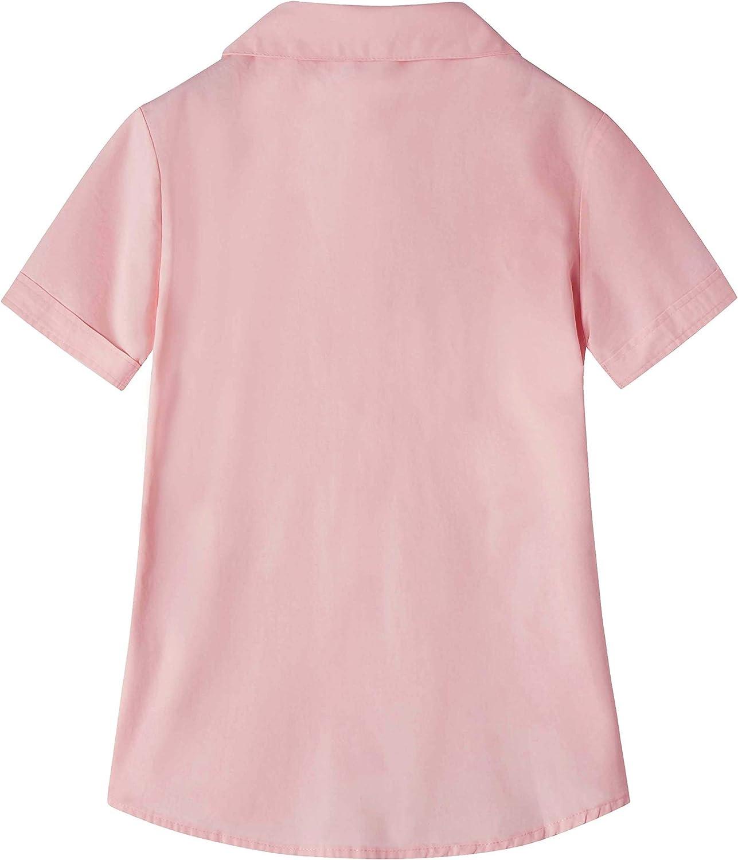Manica Corta Vestito Modellante Spring/&Gege Ragazza Tinta Unita Camicia