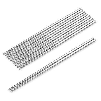 SHARECOOK - Juego de palillos chinos de acero inoxidable 18 ...