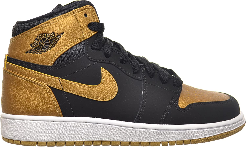 jordan air force 1 black and gold