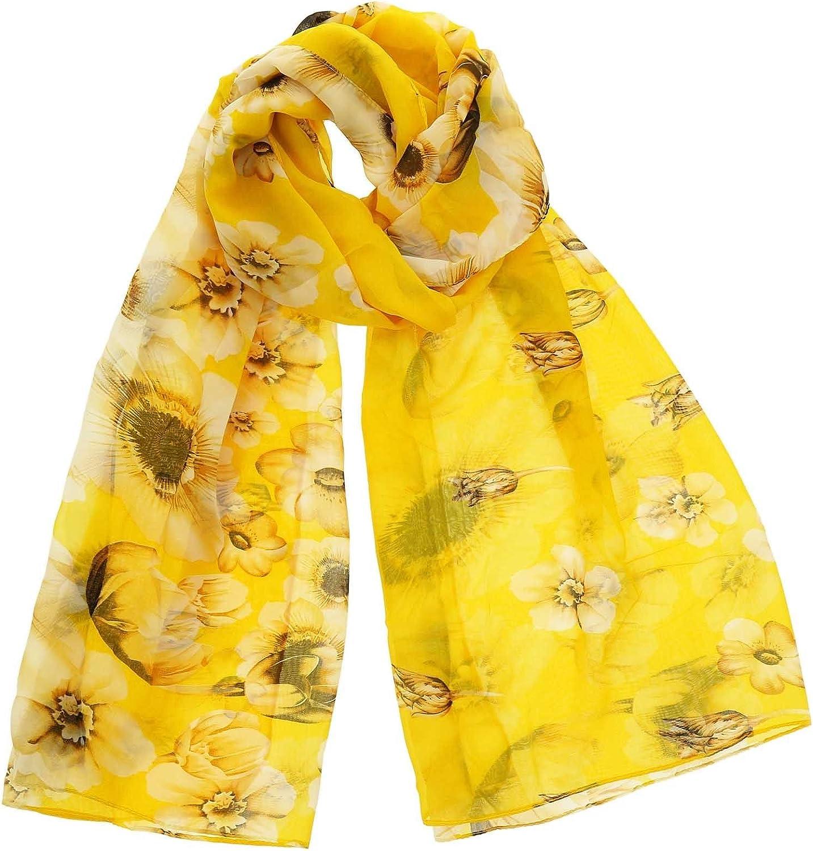 fleur EFIA FASHIONGEN Echarpe mousseline imitation soie