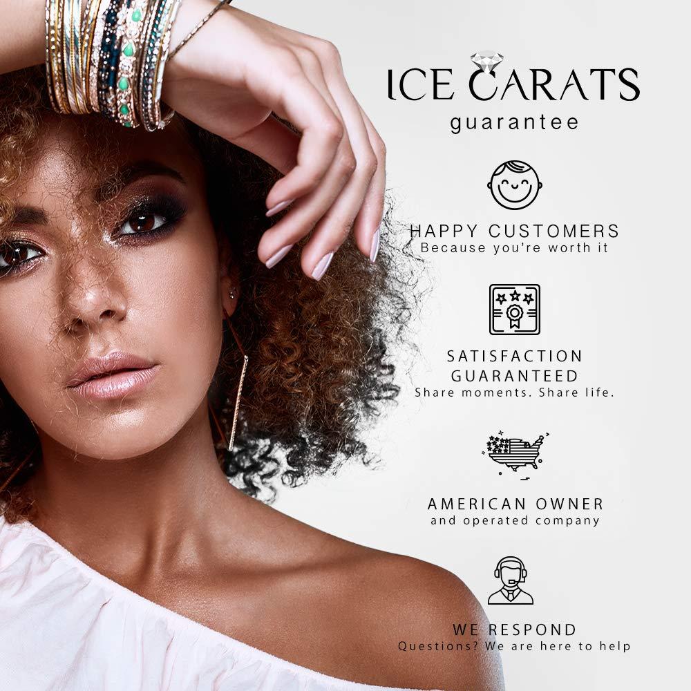 IceCarats 925 Sterling Silver 14k Sky Blue Topaz Diamond Cuff Bracelet Gemstone Bangle Hinged by ICE CARATS (Image #5)