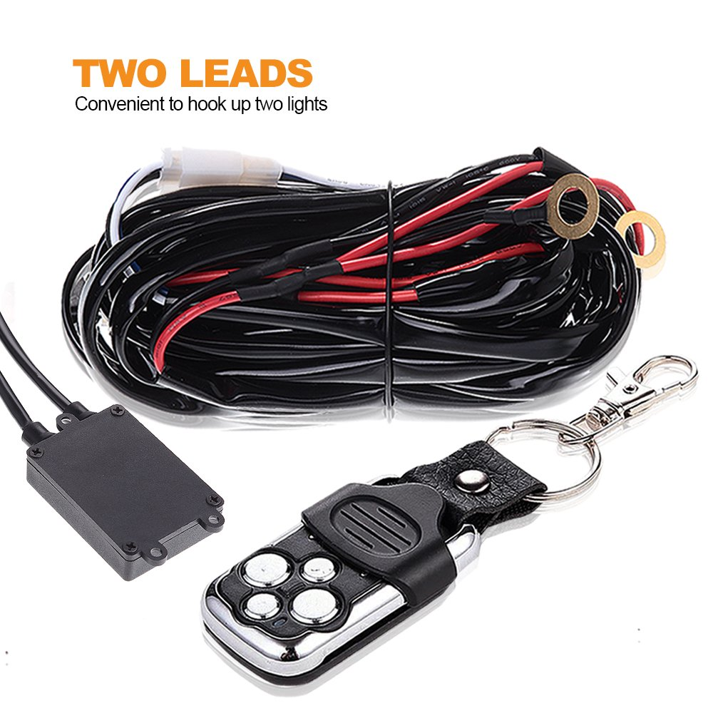 Details about LED Light Bar Wiring Kit Relay ON-OFF Remote Control Switch  Car Boat Offroad
