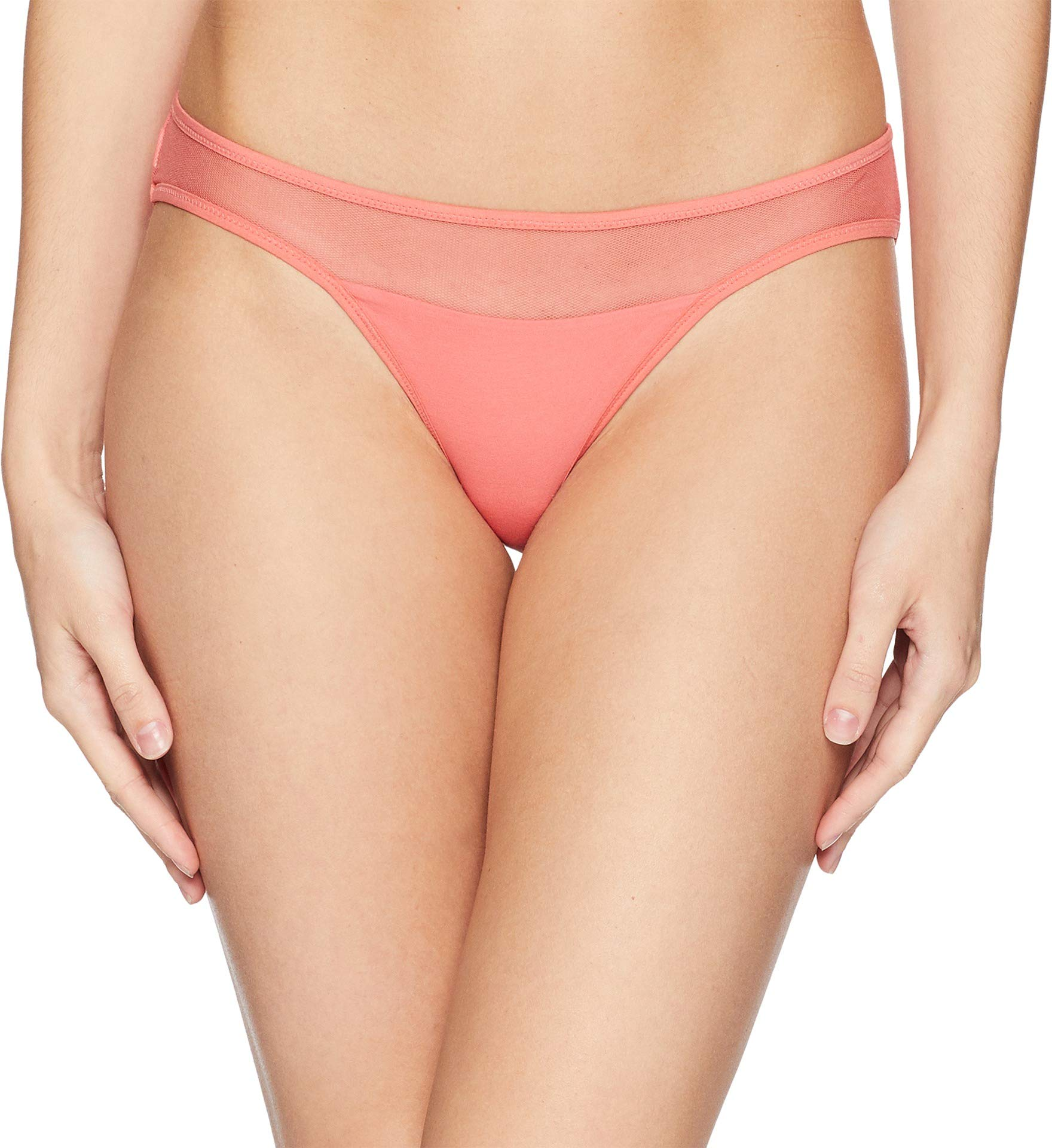Skin Women's Onyx Tulle Bikini Spiced Coral Large by Skin Industries