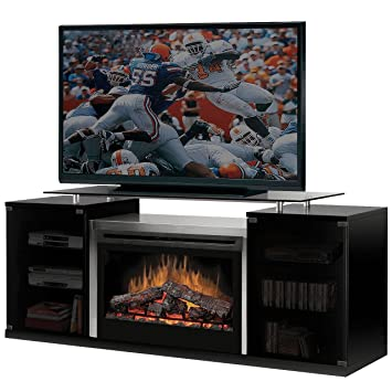 white corner electric fireplace media center lowes oak stand finish black wood burning bed