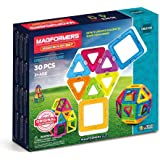 MAGFORMERS Neon (30 Piece) Building Set, Rainbow