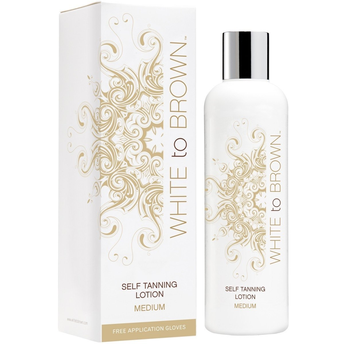 58025d11d3d WHITE to BROWN Self Tanning Lotion, Medium, 250 ml: Amazon.co.uk: Beauty