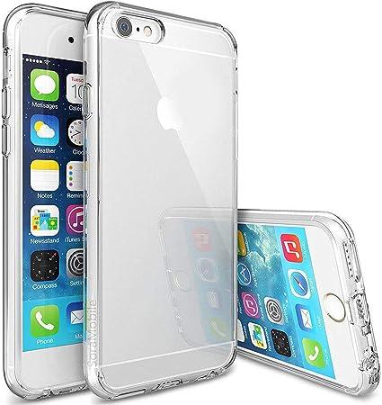 SoraMobile Coque pour iPhone 6 / 6S Coque pour Apple iPhone 6 / 6S Qi Slim Silicone Transparent TPU Souple