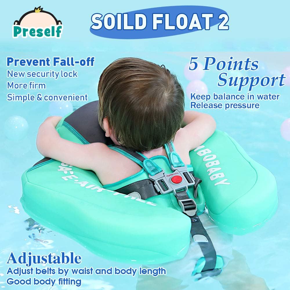 Blue Preself Baby Solid Folat Ring 2 Infant Pool Aquatics Toddler Bathtub Floating Safety Swimming Training