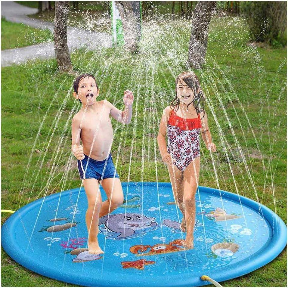 170CM Large Sprinkler Pad Splash Play Mat Toy Kid Inflatable Water Swimming Pool