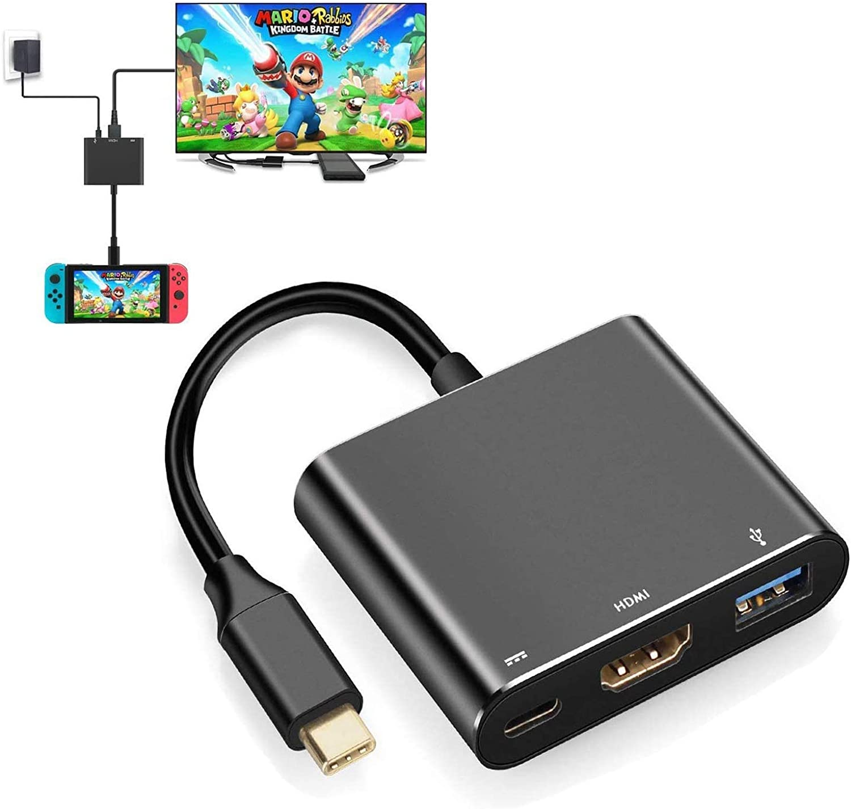 Adaptador HDMI para Nintendo Switch, Portátil 4K HDMI Dock USB Tipo C a HDMI Adaptador Multiport Hub para Switch: Amazon.es: Electrónica