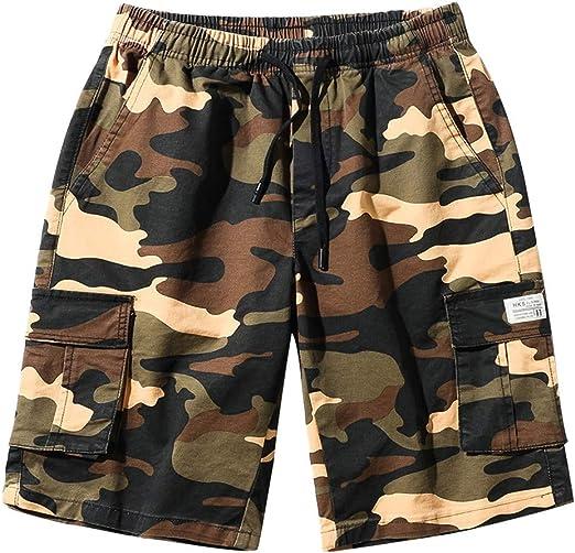 Frieed Men Beach Swim Trunk Board Shorts Casual Printing Ripstop Cargo Shorts