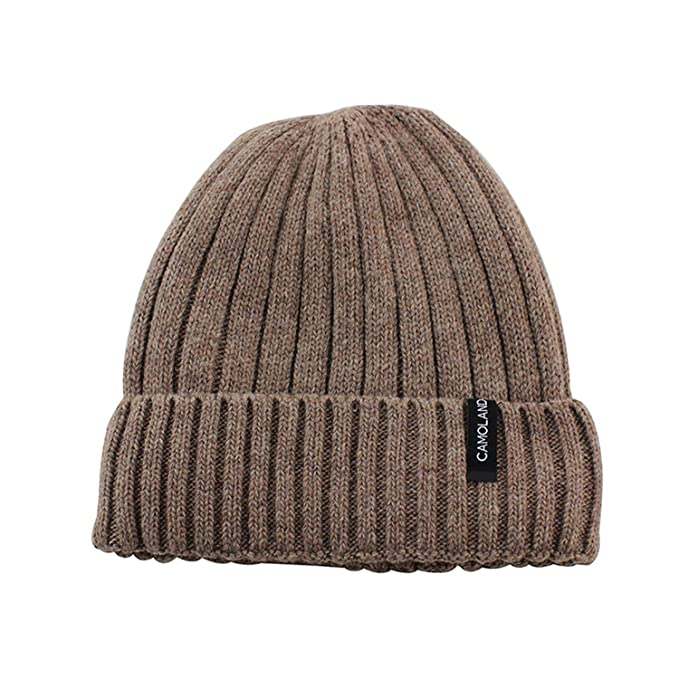 3eb3887b840 Image Unavailable. Image not available for. Color  LONIY Wool Beanies Knit  Men s Winter Hat Caps Skullies Bonnet ...