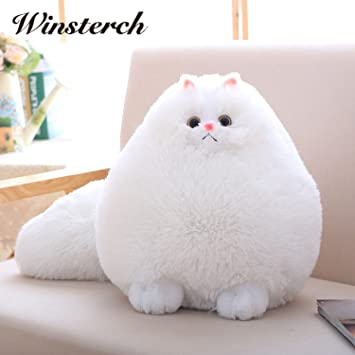 Funny Fat Kawaii Plush Fluffy Cat Toy Pembroke Pillow Soft Stuffed Animal Peluches Dolls Baby Kids