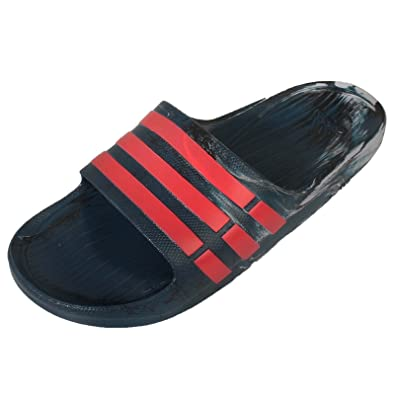 8a0ea765be8303 Adidas Duramo Slide Flip Flops Mens Womens Boys Beach Summer Holiday Sandals  (UK5 - US5