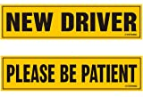 TOTOMO #SDM04 Set of 4 Student Driver Magnet 12x3 Highly Reflective Premium Quality Car Safety Caution Sign for New Student Drivers