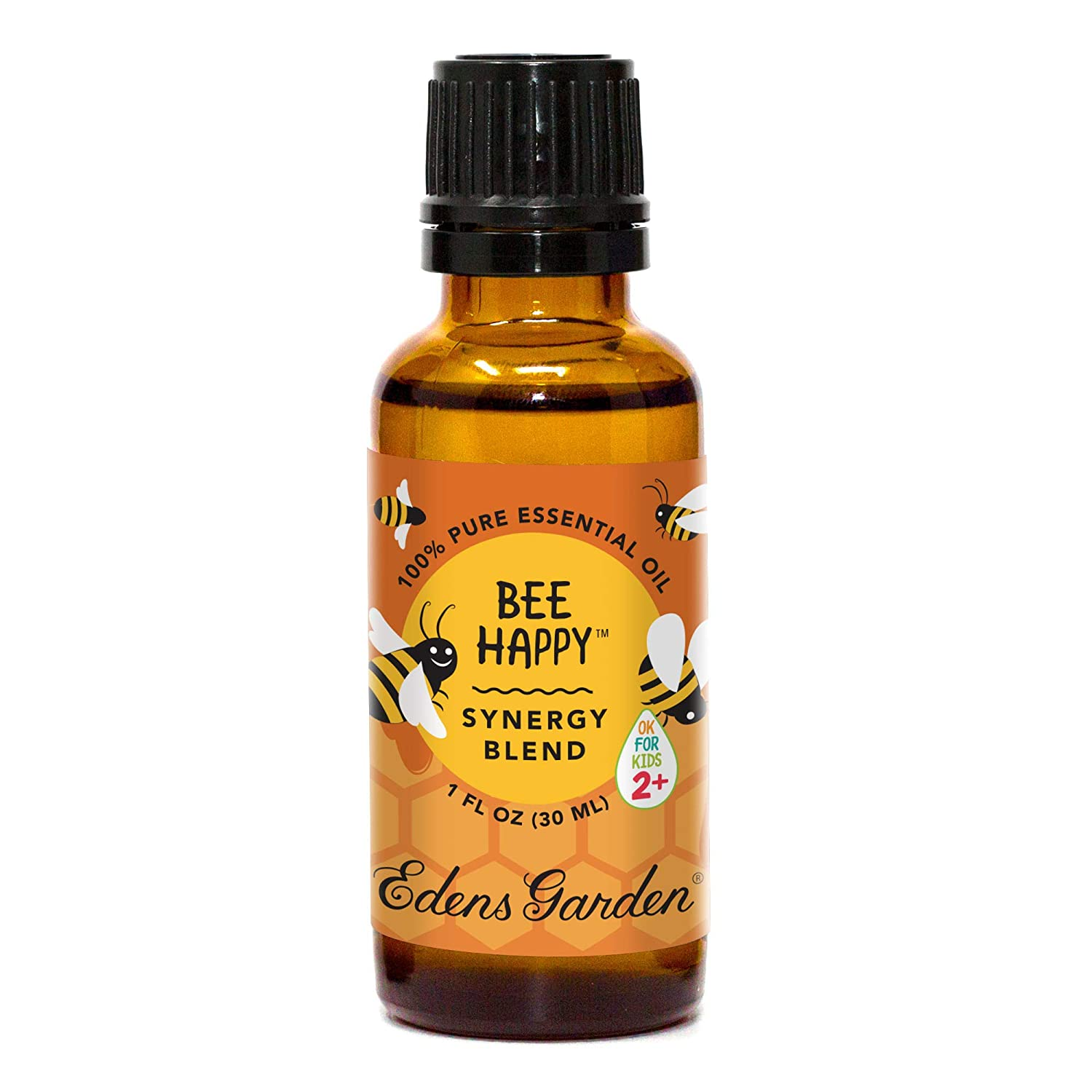 "Edens Garden Bee Happy""OK For Kids"" Essential Oil Synergy Blend, 100% Pure Therapeutic Grade (Child Safe 2+, Energy & Stress), 30 ml"