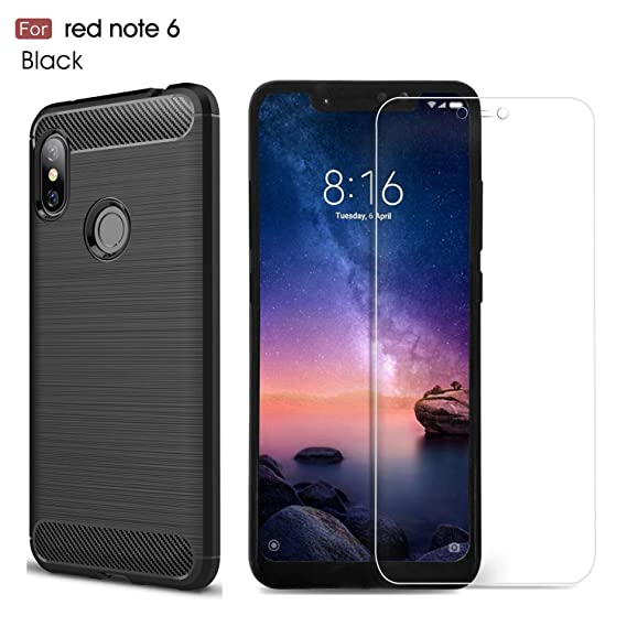 low priced 39b53 f130b Xiaomi Redmi Note 6 Pro Case/Redmi Note 6 case,with Xiaomi Redmi Note 6  Pro/Redmi Note 6 Screen Protector. MYLB (2 in 1)[Scratch Resistant  Anti-Fall] ...
