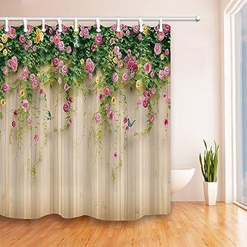 Gohebe Tapete Vorhänge Dusche Von Rosmarin Flower Wall Tapete Fotografie  Hintergrund Bad Vorhänge 180,3