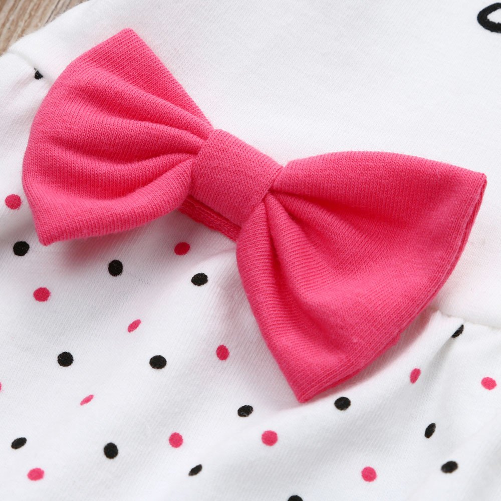 Toddler Infant Kids Baby Girls Letter Bowknot Princess Dot Dress Clothes Outfits Dream Room Dresses