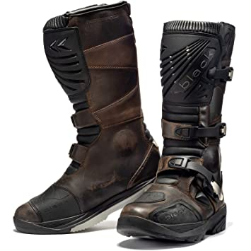 Black Rebel Adventure Wp Motorcycle Boots Amazon Co Uk Sports