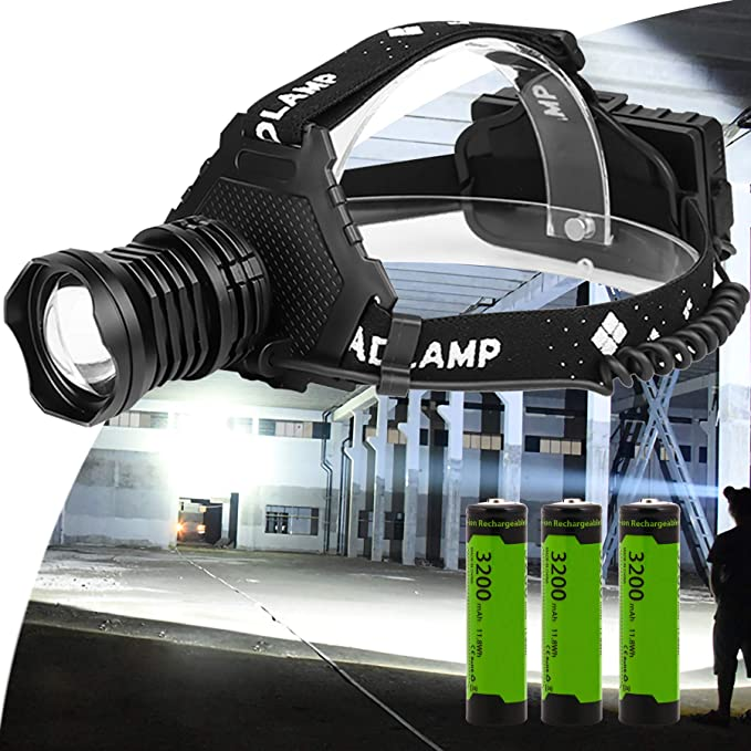 Details about  /Bright COB LED Headlamp USB Rechargeable Headlight Camping Hiking Head Torch USA