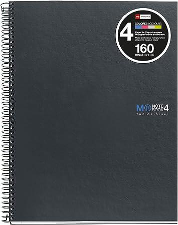 Miquelrius Basicos Mr 2121, Cuaderno A5 con Tapa de Polipropileno, 160 Hojas, Negro: Amazon.es: Oficina y papelería