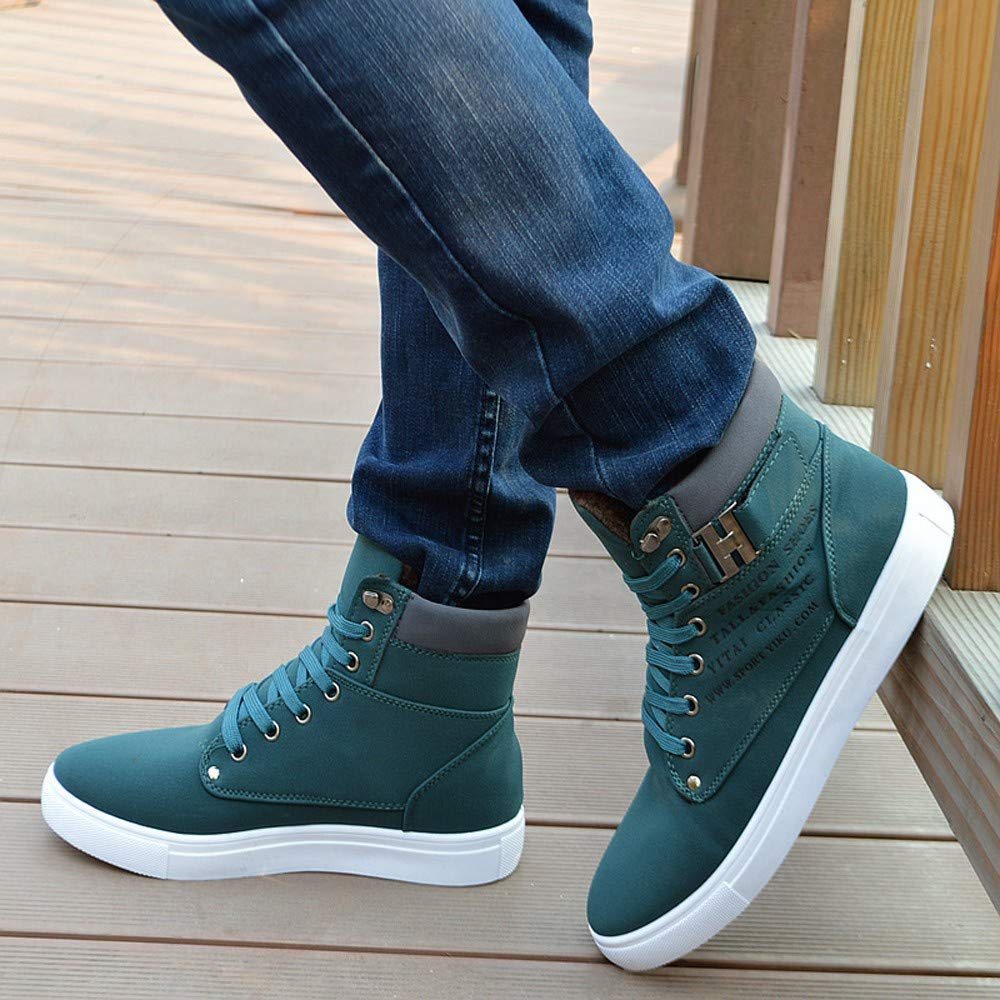 Mens High Top Vintage Sneaker,Mitiy Lace-Up Ankle Boots Shoes Casual High Top Shoes