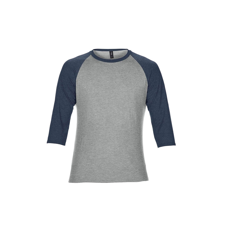 Anvil Unisex Two Tone Tri-Blend 3/4 Sleeve Raglan T-Shirt