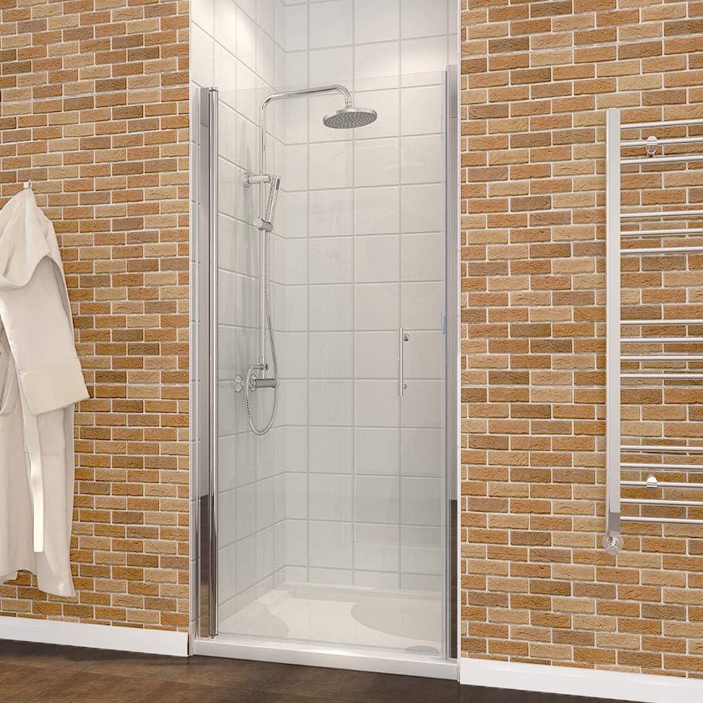 700mm Frameless Pivot Shower Door Enclosure 6mm Safety Glass Reversible Shower Cubicle Door