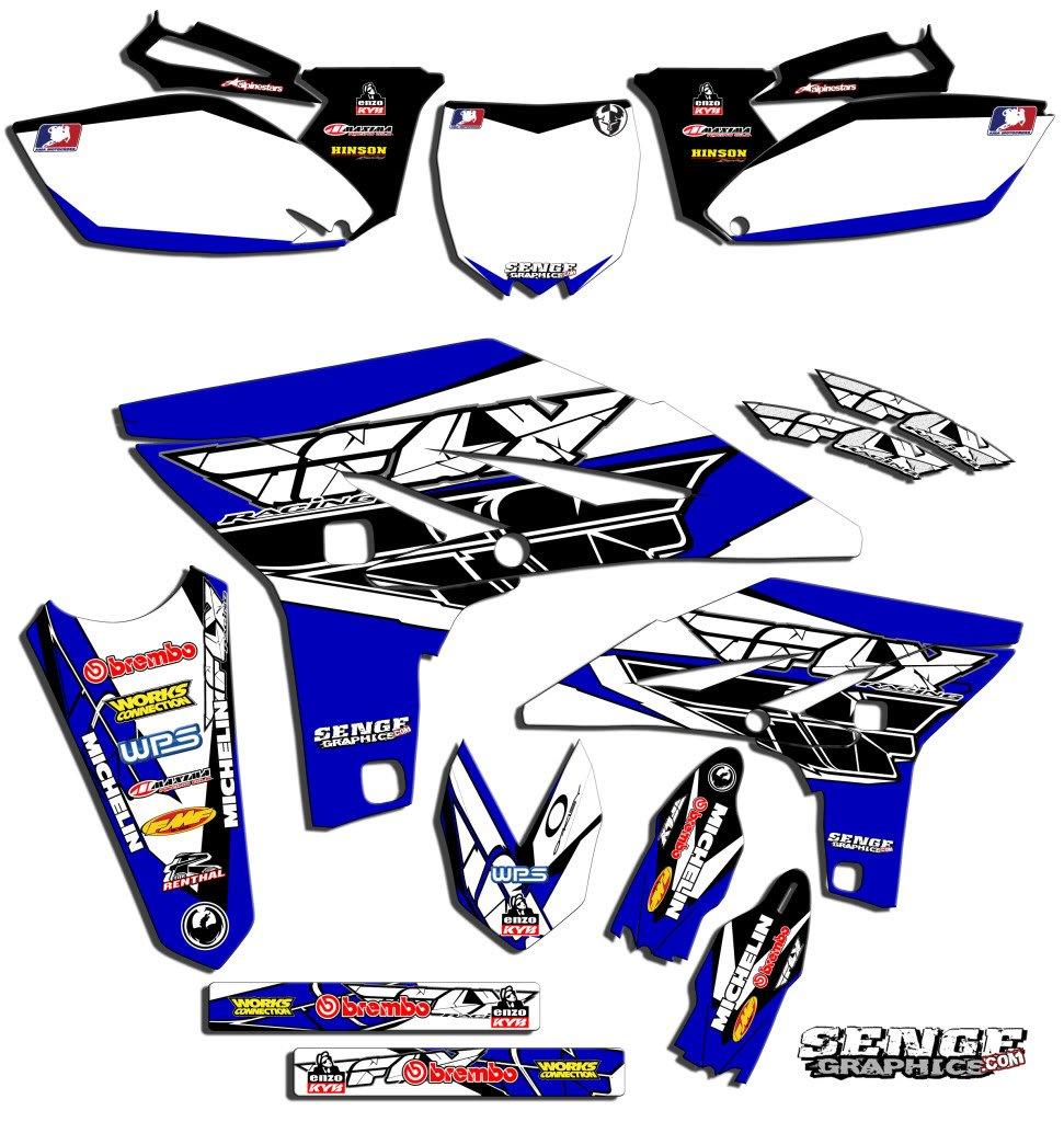 Senge Graphics 2002-2014 Yamaha YZ 85, Fly Racing Blue Graphics Kit Senge Graphics Inc.