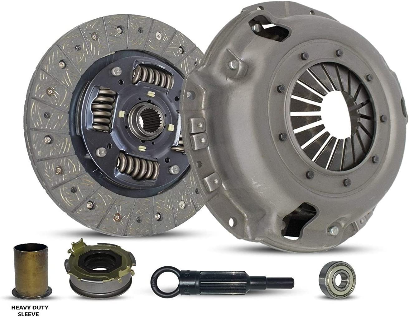 Clutch Kit And Sleeve Works With Subaru Forester Impreza Legacy X Base Limited Premium Sport Touring 2.5i Outback L H6 L.L. Bean VDC Sedan Wagon 1996-2012 2.0L H4 2.5L H4 3.0L H6