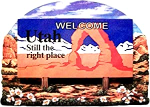 Utah State Welcome Sign Wood Fridge Magnet 2