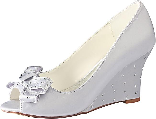 Emily Bridal Silver Wedding Shoes