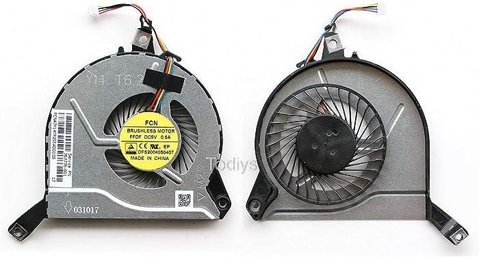 Todiys CPU Cooling Fan for HP Pavilion 15-P200 15-P300 Series 15-P210NR 15-P213CL 15-P214DX 15-P223NR 15-P233CL 15-P224NR 15-P233CL 15-P233NR 15-P237NR 15-P263CA 15-P281NR 15-P284CA 15-P390NR