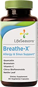 LifeSeasons - Breathe-X - Fast Acting Allergy Relief Supplement - Sinus and Nasal Discomfort - Naturally Boost Immune System - with Quercetin, Bromelain, Nettle Leaf - 90 Capsules