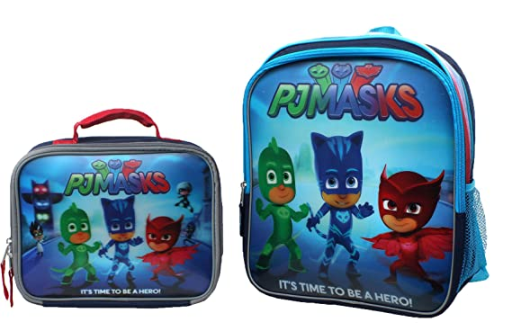 Disney Junior PJ Masks 3D Backpack & Lunch Box Set