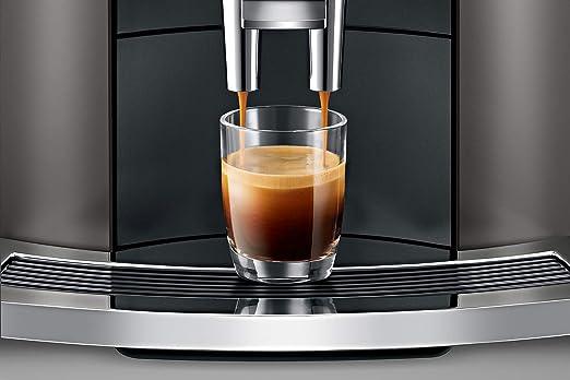 JURA E8 Dark Inox Independiente Máquina espresso 1,9 L Totalmente automática - Cafetera (Independiente, Máquina espresso, 1,9 L, Molinillo integrado, 1450 W, Negro, Acero inoxidable): Amazon.es: Hogar