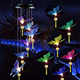 EiGreen Solar Wind Chimes Outdoor Wind Chimes Solar Lights Garden Outdoor Decorations for Patio Yard Pathway Decor Color Chan
