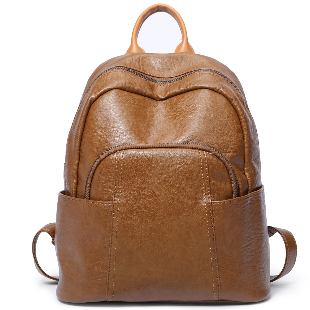 Women Backpack Purse PU Leather Fashion Ladies Shoulder Bag Waterproof Large Travel Backpack For Girls School Bag brown