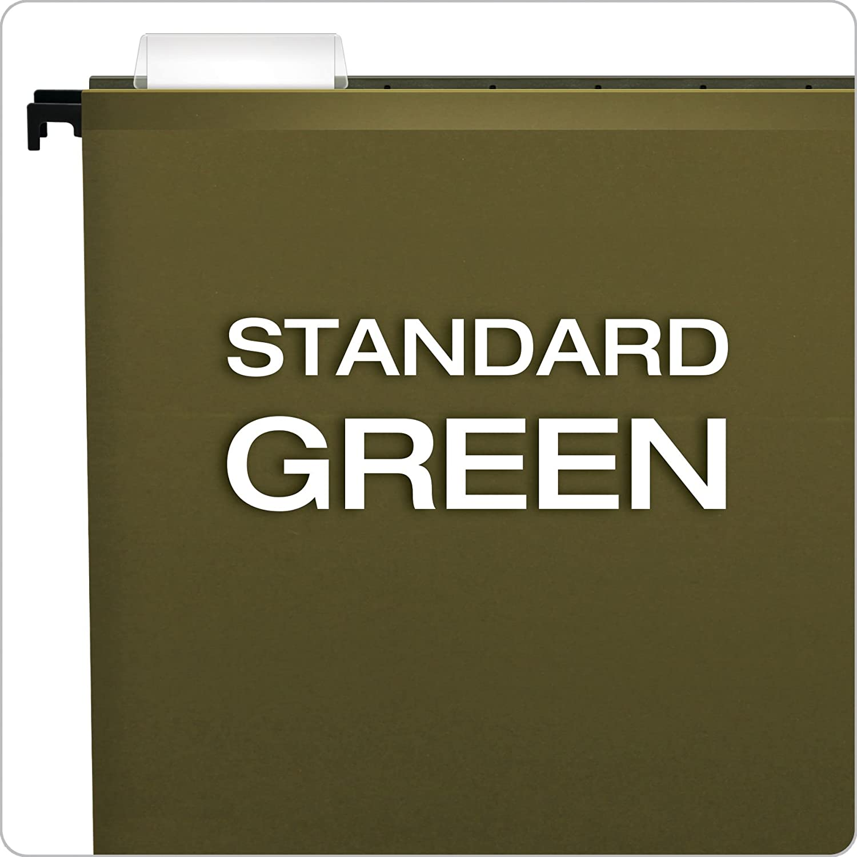 Pendaflex SureHook Reinforced Hanging Folders Letter Size 6152 1//5 20 per Box Standard Green